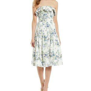 Antonio Melani Tabitha Floral Strapless Midi Dress